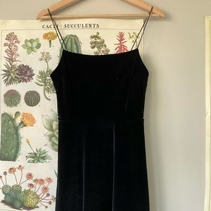 Stretchy velvet Urban Outfitters dress